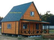 Дачные домики недорогие строим в любое время года.